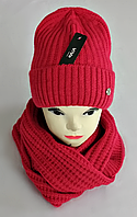 М 5062 Комплект женский-подростковый шапка+хомут, марс, флис, размер универсальный, фото 1