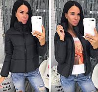Куртка женская демисезонная (норма и батал) мод. 370.Цвет-чёрный,белый, розовый,серый,красный