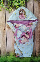 Конверт с капюшоном  для новорожденных Принцесса, фото 1