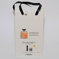 Мини парфюмерия женская Coco Mademoiselle Chanel (Шанель Коко Мадемуазель)в подарочной упаковке 3х15 ml  DIZ