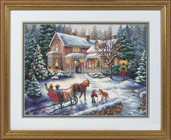 Набор для вышивки крестом Dimensions 08733 «Домой на праздники»