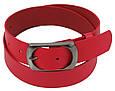 Яркий женский кожаный ремень 4 см Cavaldi Pd42 красный, фото 2