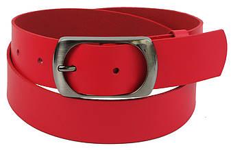 Яркий женский кожаный ремень 4 см Cavaldi Pd42 красный