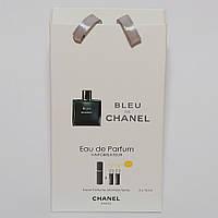 Мини парфюмерия мужская Chanel Bleu de Chanel в подарочной упаковке 3х15 ml  DIZ