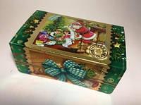 Новогодняя коробка, Сундучок Дед Мороз, 700 гр, Картонная упаковка для конфет