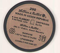 Усиленные патроны Флобера Sellier & Bellot Randz Curte кал. 4 mm short пуля - свинцовый шарик плакированный медью. Упаковка 200 шт. (V355332)