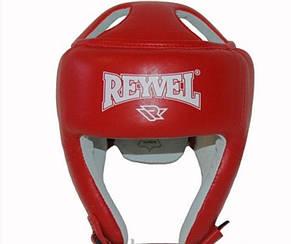 Шлем Reyvel красный кожа