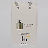 Мини парфюмерия мужская Chanel Allure Homme Sport в подарочной упаковке 3х15 ml  DIZ
