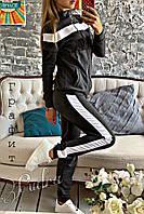 """Спортивный костюм женский """"Wow"""". Цвет: черный, графит, красный, фото 1"""