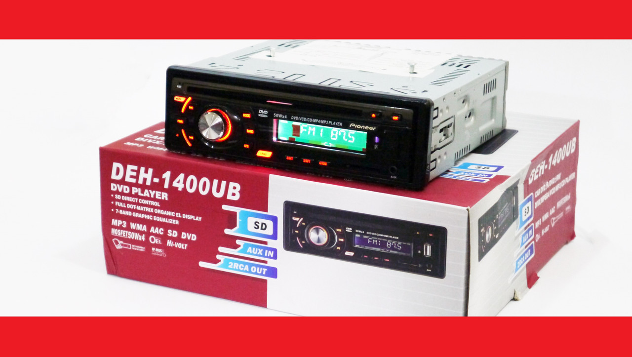 Pioneer DEH-1400UB DVD Автомагнитола USB+Sd+MMC