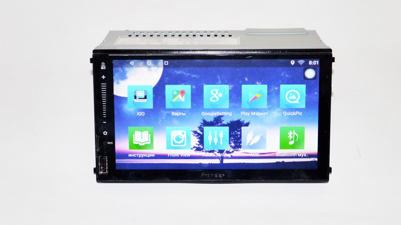 1din Pioneer FY6521 GPS + WiFi + 4Ядра +Android