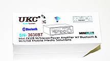 Усилитель UKС SN-3636BT - USB,SD,FM,MP3! 120W+120W 2х канальный, фото 3