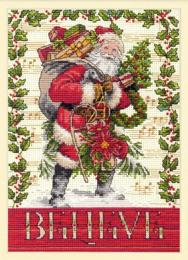 Набор для вышивки крестом Dimensions 70-08980 «Belive in Santa»