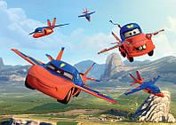 Фотообои 3D детские для мальчиков 254х184 см Тачки : В полете (317P4CN)