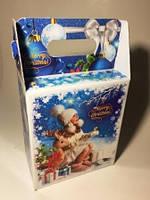 Новогодняя коробка, Ретро, Картонная упаковка для конфет, 1500-2000 грамм