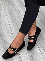 Туфли женские 6 пар в ящике черного цвета 36-40, фото 2