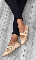 Туфли женские 6 пар в ящике бежевого цвета 36-40, фото 2