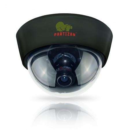 Цветная купольная камера Partizan CDM-332HQ-7 v3.1  White/Black