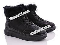 """Ботинки женские A18 black (8 пар р.36-41) """"Ailaifa"""" LG-1486"""