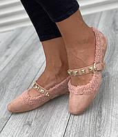 Туфли женские 6 пар в ящике розового цвета 36-40, фото 1
