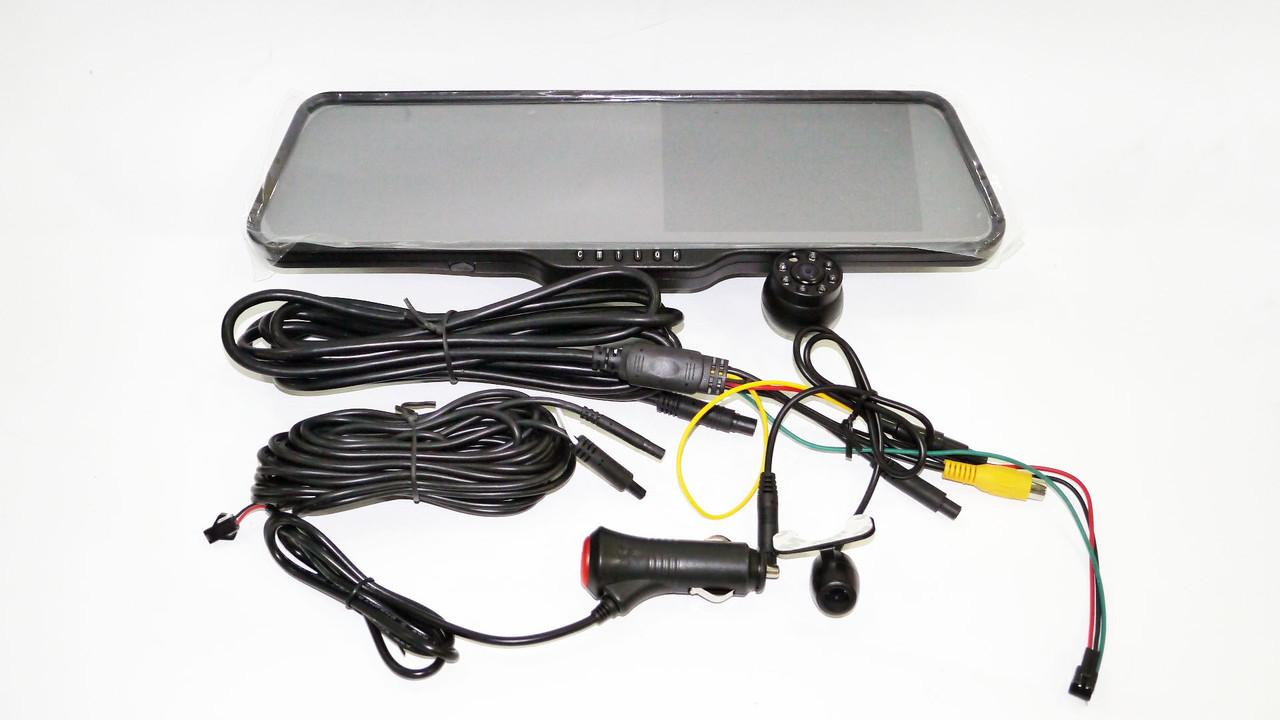 """DVR LS516 Full HD 5"""" экран Зеркало с видео регистратором с камерой заднего вида. Bluetooth гарнитура"""