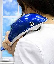 Дельфин Вибромассажер ручной массажер для тела, рук и ног маленький, фото 2