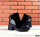 Женские ботинки в черном цвете, натуральная кожа  40 ПОСЛЕДНИЙ РАЗМЕР, фото 2