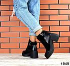 Женские ботинки в черном цвете, натуральная кожа  40 ПОСЛЕДНИЙ РАЗМЕР, фото 4