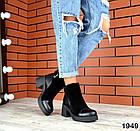 Женские ботинки в черном цвете, натуральная кожа  40 ПОСЛЕДНИЙ РАЗМЕР, фото 5