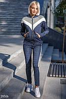 Стильный женский костюм с люриксовой ниткой, синий, фото 1