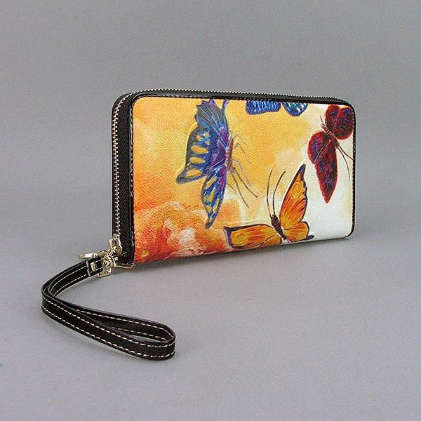 Кошелек кожаный женский бабочки Velina Fabbiano 2048-288