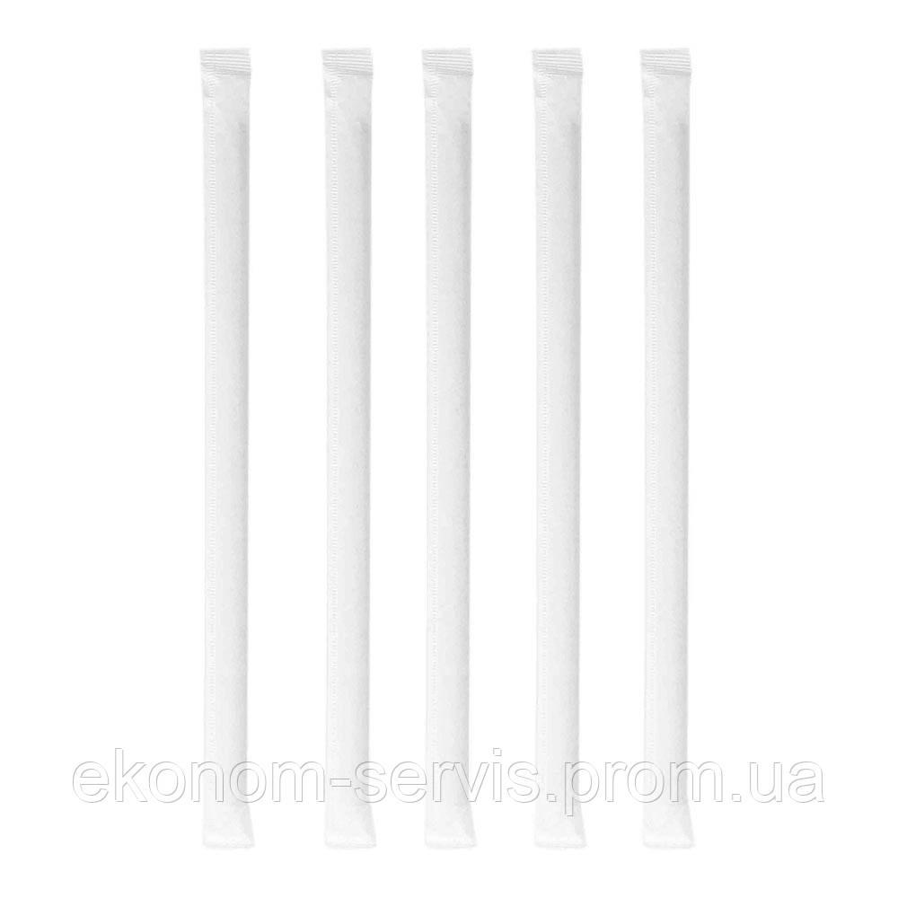 Трубочка в индивидуальной упаковке, Фреш черный, h 21см d 6,8мм,  200 шт