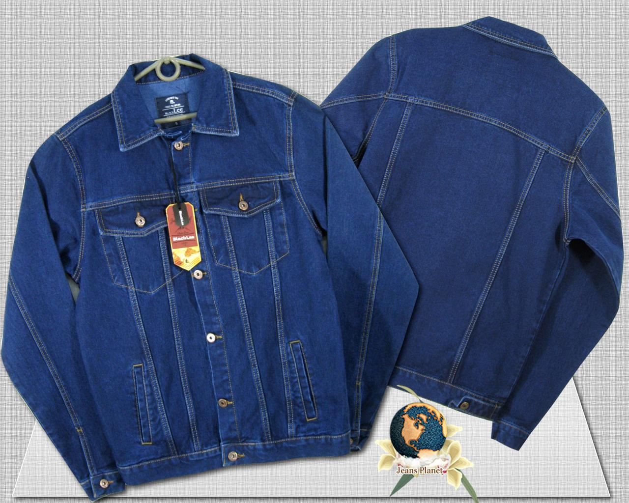 Куртка мужская джинсовая коттонка синего цвета Black Lee