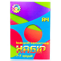 Набір картону і паперу кольорового Тетрада (7+7 шт) 491586