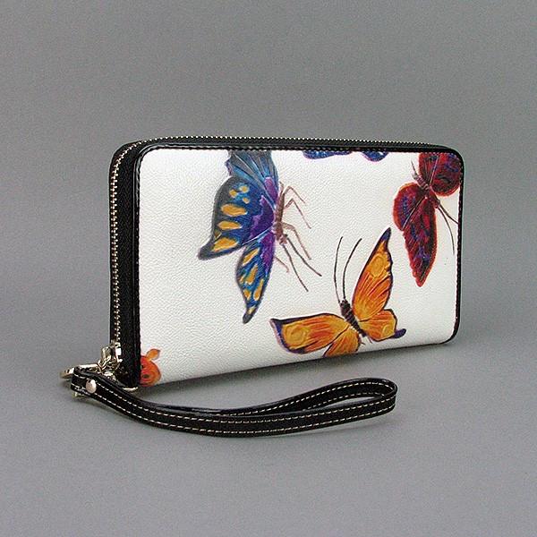 Кошелек кожаный женский бабочки Velina Fabbiano 2048-284