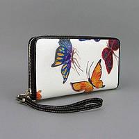 Кошелек кожаный женский бабочки Velina Fabbiano 2048-284, фото 1