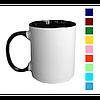 Друк на глянцевих чашках з кольоровими вставками, фото 2