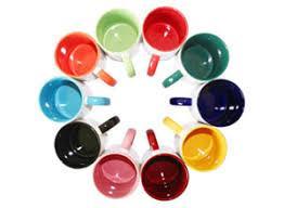 Друк на глянцевих чашках з кольоровими вставками