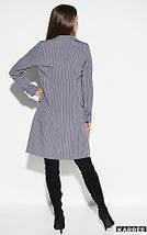 Демисезонное платье на каждый день до колен на пуговицах длинный рукав цвет серый, фото 3