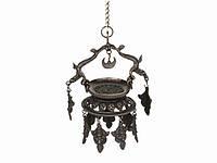 Лампа Далю. Маслянная Ритуальная. Подвеска Цепь. Бронза 22 см.Традиции Неваров (22х15х10 см)