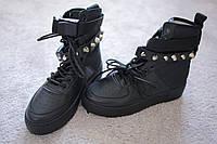 Женские кроссовки хайтопы Nike Air Force Style Black 36 - 40