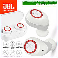 Беспроводные наушники JBL Free X Bluetooth 5.0 soundsport T110BT с кейс TWS гарнитура микрофон телефон блютуз