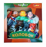 """Кукольный театр """"КОЛОБОК"""" (премиум упаковка, 7 персонажей) B065"""