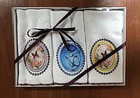 Полотенце махровые кухонные 30x50 3 шт