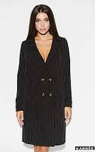 Свободное платье-пиджак на пуговицах длина до колен цвет черный, фото 3