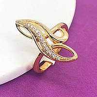 Позолоченное женское кольцо.  Мед золото Xuping