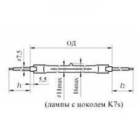 Лампа КГТ 220-1800, фото 1
