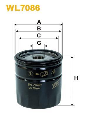 Масляный фильтр WIXFILTRON CITROEN/FIAT/PEUGEOT  (WX WL7086-12)