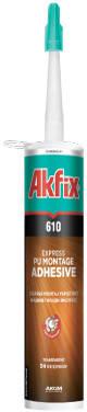 Полиуретановый клей Akfix PU 610 (жидкие гвозди) (310 ml), фото 2