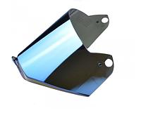 Визор (Стекло) для шлемов LS2 MX436 Pioneer зеркальный (синий)